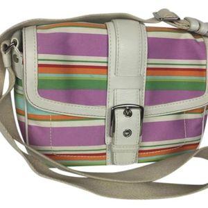 Coach Hamptons Flap Stripe Shoulderbag